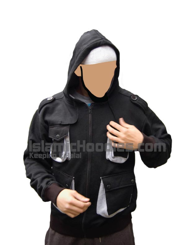 Islamic jacket pocket dark