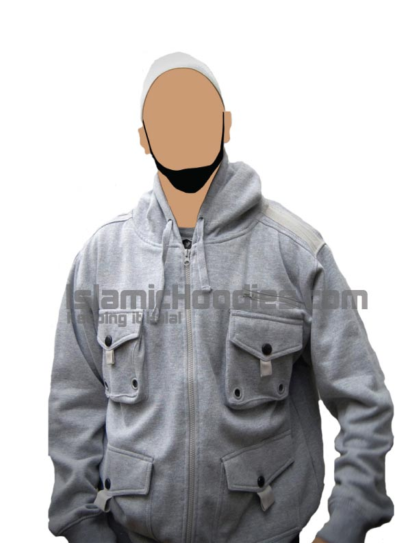 Islamic jacket pocket gray
