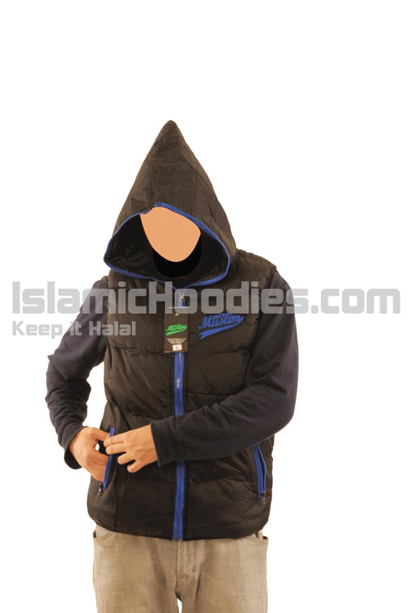 Black & Blue Islamic Body Warmer