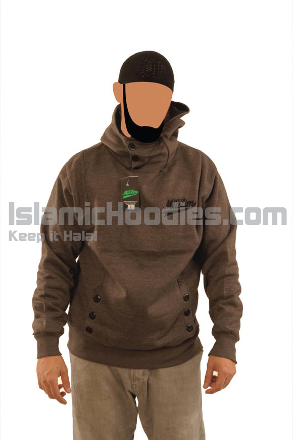 Dark Grey Button Islamic Stylish Jacket