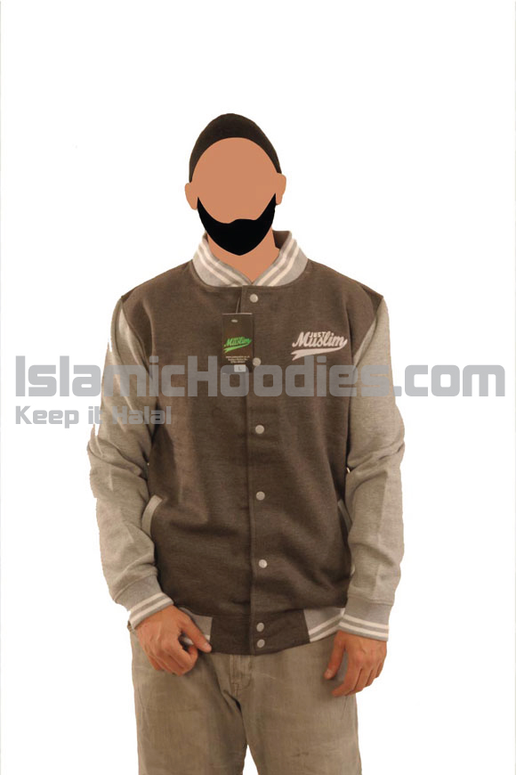 Dark Grey Islamic Baseball Jacket