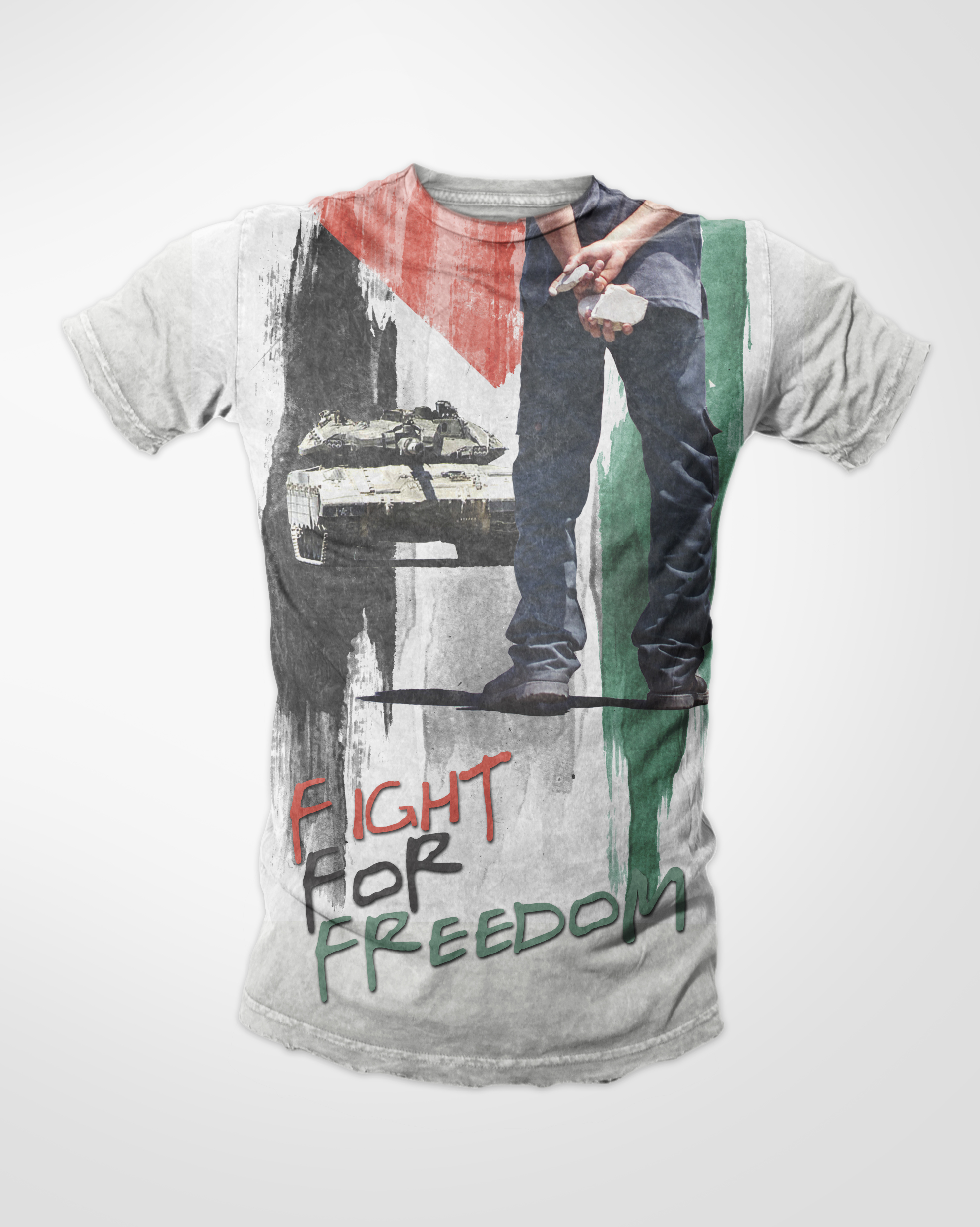 Fight For Freedom Double Sided Muslim T-shirt