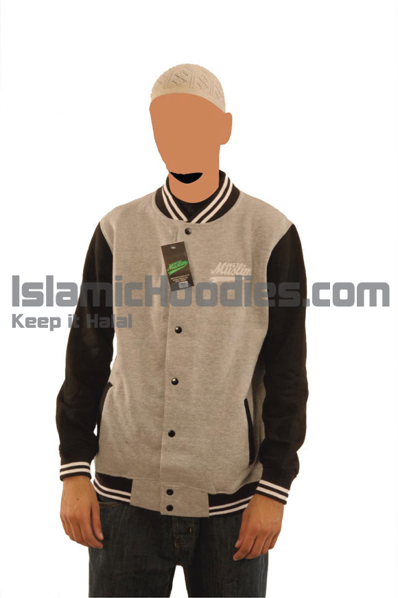 Grey Balck Islamic Baseball Jacket