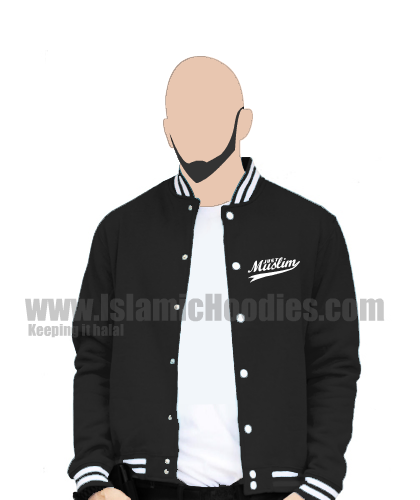 Islamic baseball jacket black