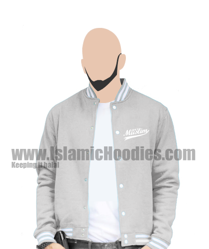 Islamic baseball jacket Gray