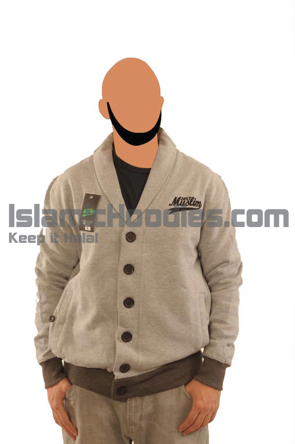 Light Grey Muslim Cardigen
