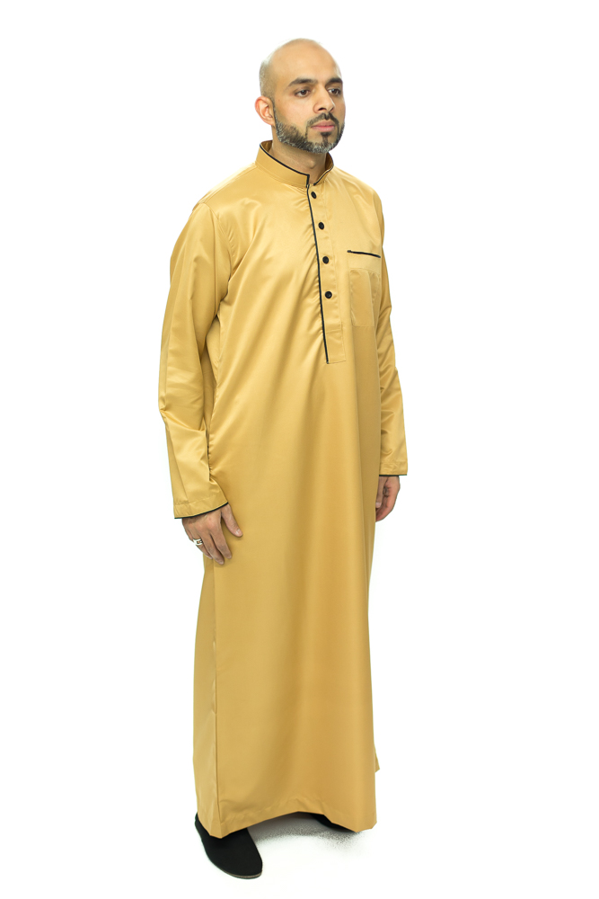 New Pipping Gold Coller Jubba