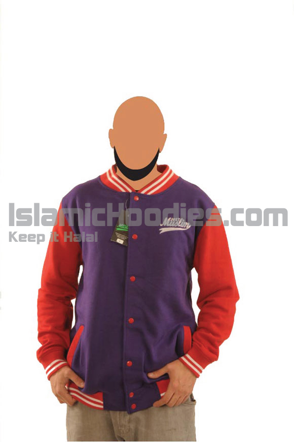 Navy Blue And Red Islamic Stylish Jacket