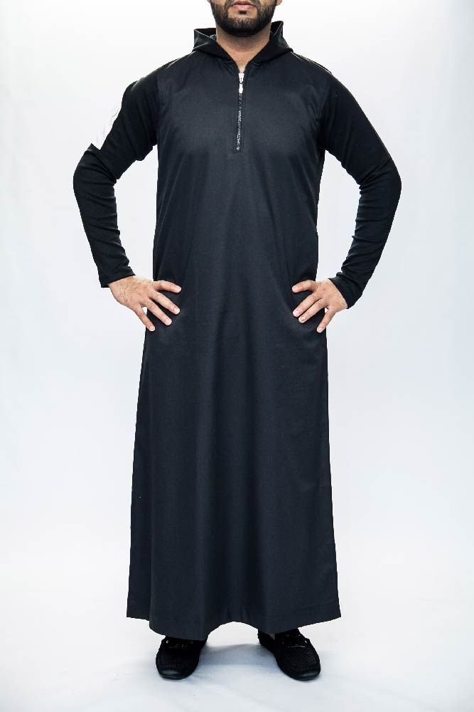 New Black Hooded Mens Jubba