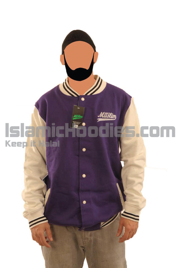 Purple And White Islamic Stylish Jacket