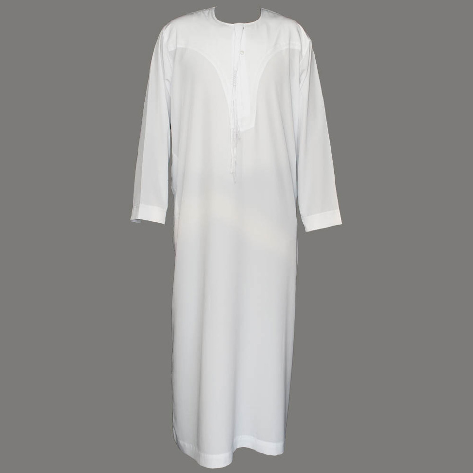 White Color Ikaaf Jubba Thobe