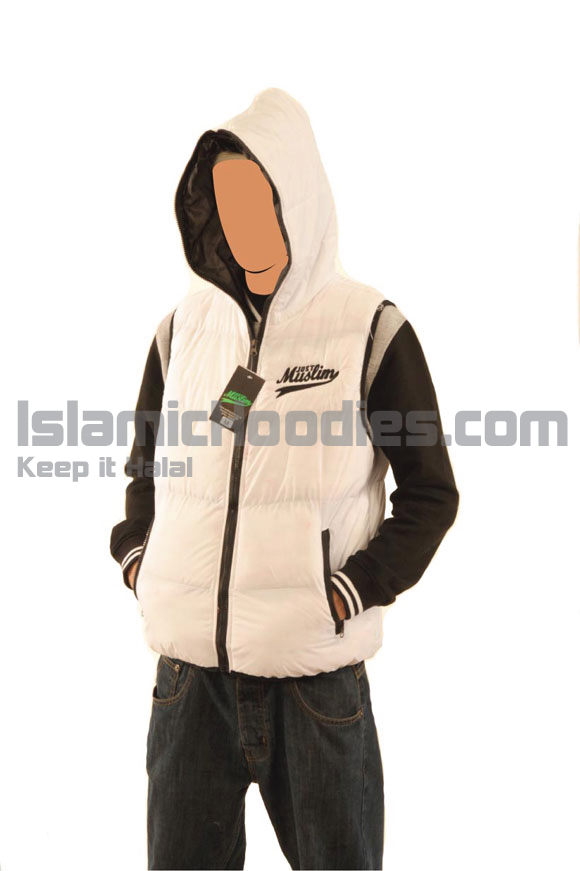 White Islamic Body Warmer