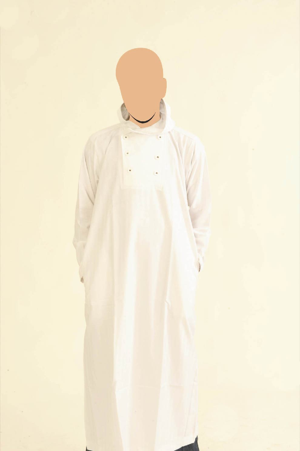 White Hooded Recolite Jubba
