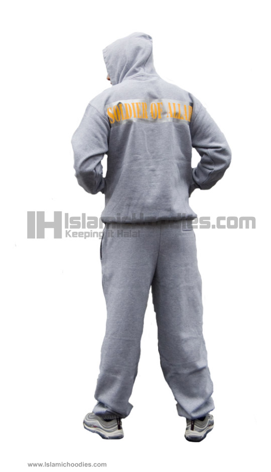 Yollow Soldiers of Allah gray Islamic tracksuits